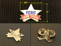 One Year Membership Pin